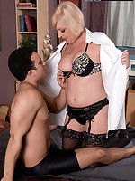 60 Plus MILFs - She's fucking him. She's old enough to be his grandmother - Scarlet Andrews (39 Photos)