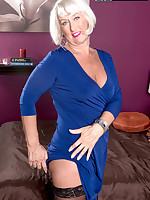60 Plus MILFs - Ass-fucked devil with a blue dress - Jeannie Lou (60 Photos)